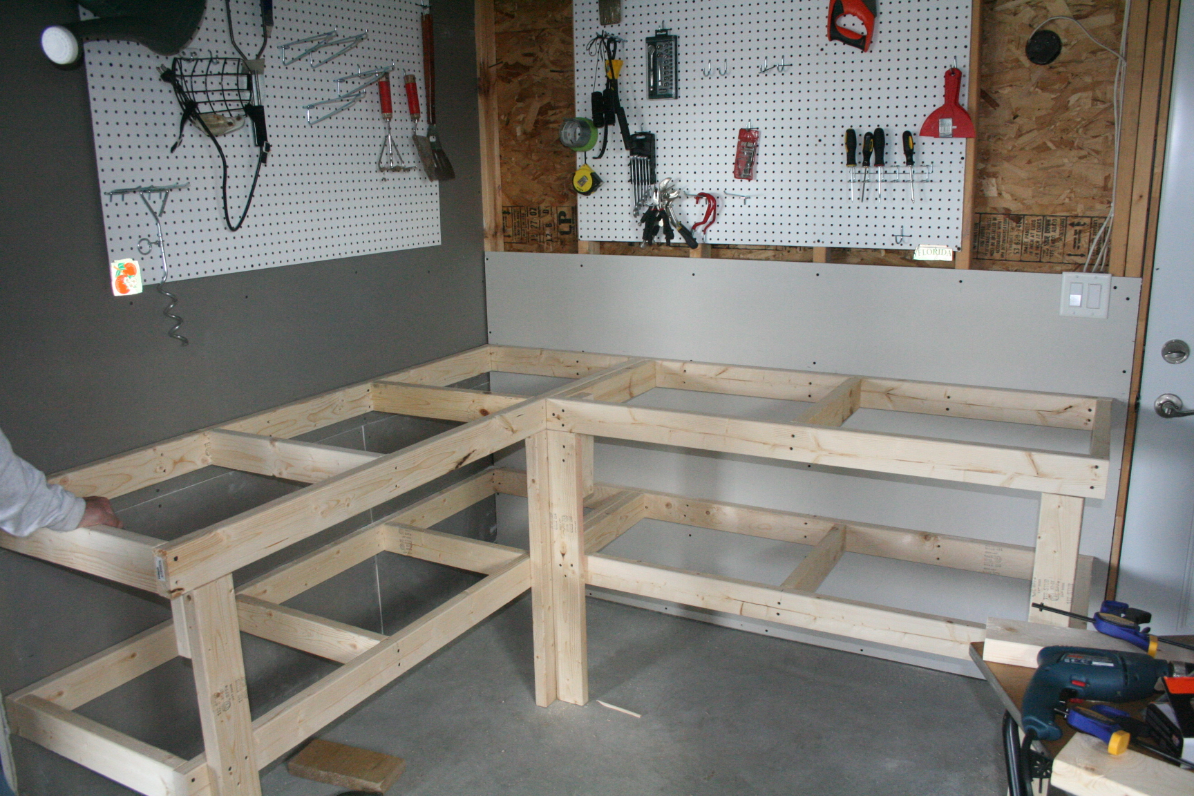 woodwork l shaped workbench plans pdf plans